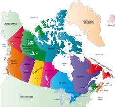 map of canada | Homeschool | Canada for kids, Map, Maps for kids