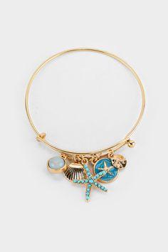 Starfish Charm Bracelet in Turquoise on Emma Stine Limited