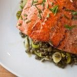 Healing Recipes: Migraines – Roasted Salmon With Mustard-Herb Butter and Lentils - http://www.ganjapreneur.com/healing-recipes-migraines-roasted-salmon-with-mustard-herb-butter-and-lentils/