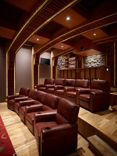 Nice layout with stadium seating and overstuffed chairs. Don't forget the popcorn!