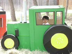 Are the winter blues getting you down? Are your kids feeling cooped up and in need of fun indoor activities? How about some cardboard fun. Tractor Birthday, Farm Birthday, 2nd Birthday Parties, Birthday Ideas, Barnyard Party, Farm Party, John Deere Party, Fun Indoor Activities, Kid Activities