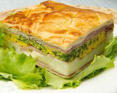 Pastel de jamón, queso y verduras