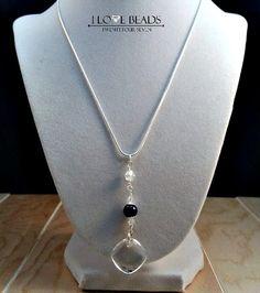 Swarovski crystal necklace- sterling necklace-swarovski jewelry- swarovski crystals- crystal necklace-lapis necklace- lapis lazuli