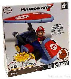 KNEX Nintendo Mario Glider Kart 7 Building Block Set Pull Back Motor Toy Car NEW