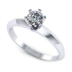 Inel logodna F111ADI * Piatra principala: 1 x diamant, dimensiune: ~4.50mm, greutate: 0.35ct Aur, Heart Ring, Engagement Rings, Jewelry, Fashion, Enagement Rings, Moda, Wedding Rings, Jewlery