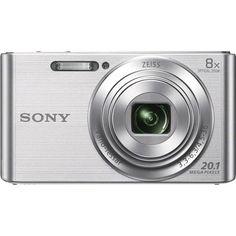 Sony - DSC-W830 20.1-Megapixel Digital Camera - Silver - $79.99