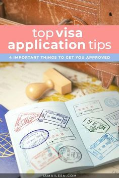 Increase your chances of getting that approval — here are the 4 topmost important visa application tips to remember when you're applying! // #VisaTips #TravelTips