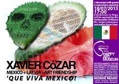 QUE VIVA MEXICOhttp://goo.gl/XAWJQ MEXICO+LATVIA=FRIENDSHIPⓒHAPPY ART MUSEUMhttp://goo.gl/rdJVC MEXICO AMBASSADOR Mr. Jorge Lomonaco open Expo & discuss. Xavier COZAR in Riga Monhe NEGRO gourmet