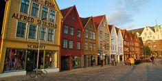 Bryggen oder der Hansekai, UNESCO Weltkulturerbestätte in Bergen