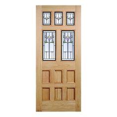 External Adoorable Oak Veneer Knightsbridge Tulip Patterned Double Glazed Door 1981 x 838 x 44mm  sc 1 st  Pinterest & Back door Dooria Door | Front door | Pinterest | Front doors Back ...
