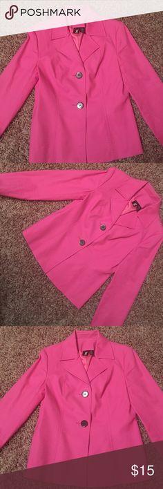 ESSENTIALS G BLAZER 84% cotton 6% spandex. In excellent condition. Pink with black buttons. essentials g Jackets & Coats Blazers