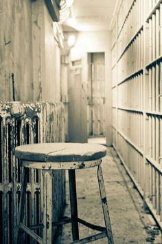 Corridors in Alcatraz, San Francisco - just too creepy. What if you got stuck in there for the night?