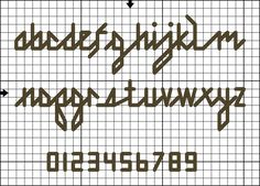 Free Cross Stitch and Back Stitch Alphabets - Free Letter Charts and Graphs