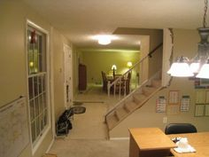 Love How They Took The Wall Away And Are Putting In A Banister To Make It · Staircase  RemodelStaircase ...