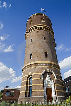 Watertoren aan de Bredaseweg in Tilburg(The old water tower in Tilburg Holland)