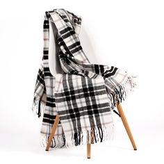 Xhosa Acrylic – Black & White from Basotho Blankets - (Save Xhosa, Fresh Outfits, Buy Shoes, Best Brand, Textile Design, Plaid Scarf, Blankets, Fashion Online, Latest Trends