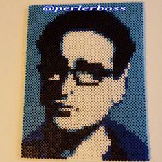 Leonard Big Bang Theory perler fuse bead portrait by perlerboss - Original design by Pamela Z: http://www.etsy.com/shop/MostFavoriteAunt