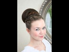 Wedding hair smooth updo with braid