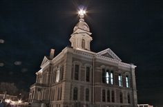 Wabash County, Wabash - Within months after the courthouse was completed, the city of Wabash became the first wholly electrically lighted city in the world, beginning with the courthouse dome. Built 1877-1879 Cost $96,930 Architects Enos & Son