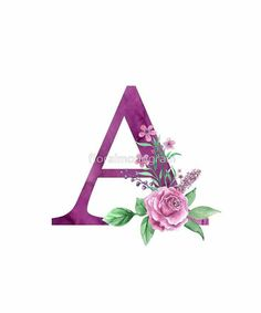 Monogram Wallpaper, Name Wallpaper, Flower Wallpaper, Screen Wallpaper, Alphabet Images, Alphabet Art, Alphabet And Numbers, Handwriting Alphabet, Iphone Wallpaper Unicorn