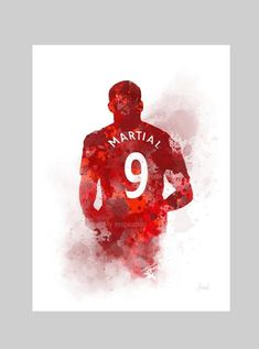 Anthony Martial ART PRINT Manchester United, Football, Sport, Gift, Wall Art, Home Decor Manchester United Wallpaper, Manchester United Players, Manchester United Gifts, Anthony Martial, Football Art, Contemporary Artwork, Contemporary Design, Football Wallpaper, Art Prints Quotes