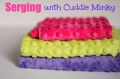 tips and tricks for serging with cuddle minky.  #shannonfabrics #sewwithminky #cuddleminky