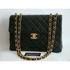 Chanel Black Lambskin Jumbo Flap Bag | Portero Luxury