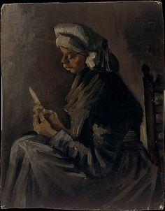 The Potato Peeler (reverse: Self-Portrait with a Straw Hat), Van Gogh