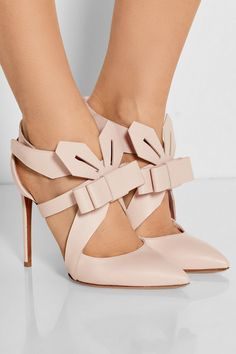 Nicholas Kirkwood Bow-embellished leather pumps