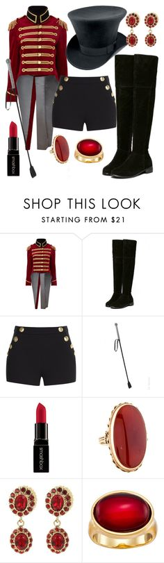 """""""Ringmaster"""" by britishpepsi ❤ liked on Polyvore featuring Pinky Laing, Boutique Moschino, Smashbox, Givenchy and Karen Kane"""