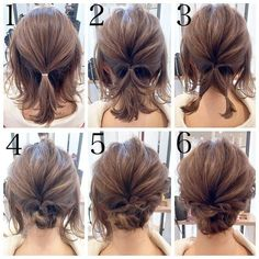 Short hair updo Quick and Easy Step by Step Hair Tutorials for Long, Medium,Short Hair Easy Updos For Medium Hair, Medium Short Hair, Medium Hair Styles, Curly Hair Styles, Short Hair Updo Easy, Short Hair Updo Tutorial, Thin Hair Updo, Medium Length Hair Updos, Updos For Medium Length Hair Tutorial