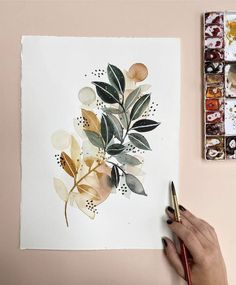 Abstract Watercolor, Watercolor And Ink, Watercolor Illustration, Watercolor Paintings, Watercolors, Painting Inspiration, Art Inspo, Guache, Zentangle