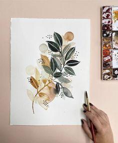 Art Lessons, Watercolor Art, Art Painting, Art Drawings, Floral Art, Painting Inspiration, Illustration Art, Art, Floral Watercolor