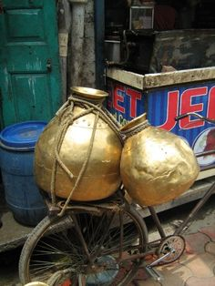 Copper water jugs, Delhi, India Water Jugs, Watering Cans, Delhi India, Jealous, Spice, Exotic, Copper, Colours, Indian