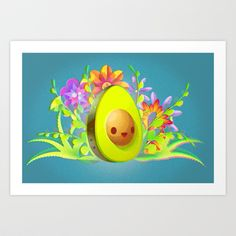 Everyone Loves Avocado! Art Print by carlos lerma - $15.00
