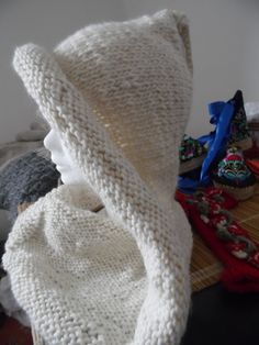 Col capuche laine enveloppant et chaud, coloris au choix   Echarpe,  foulard, cravate par annbcreation 335c1534d6a