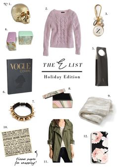 small shop: the E list, holiday edition