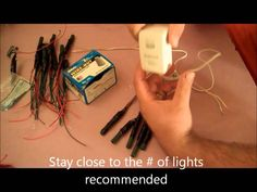 LED tutorial final The BEST tutorial for non electric people showing spotlights. You don't need resisters (already built in) and he shows you how to hook up to power supply