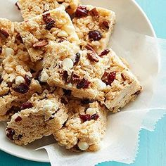 White Chocolate-Cranberry Crispy Treats From Better Homes and Gardens, ideas and improvement projects for your home and garden plus recipes and entertaining ideas.