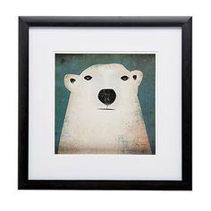 Framed Art Polar Bear 30cm x 30cm