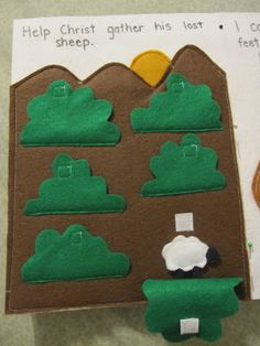 Shannon Makes Stuff: Quiet Book Page Find The Lost Sheep- adapt to Where Is The Green Sheep