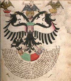 """""""Das Buch der Heyligen Dreyfaltigkeit"""", XV secolo. Si pensa che la compilazione del Libro della Santa Trinità sia stata effettuata da Hieronymus Reusner, alias Franciscus Epimetheus."""