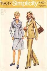 1970's Jacket, Skirt, Pants Pattern Bust 40