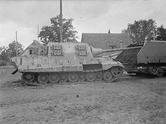 Geshutzwagen (GW) Tiger. A late war German self-propelled gun using Tiger II components...