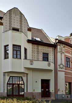 Фотография керамического загородного дома в ардеко стиле с красивой дверью
