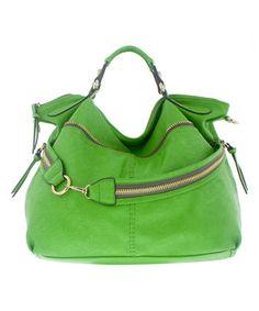 Love this Melie Bianco Lime Fergie Shoulder Bag by Melie Bianco on #zulily! #zulilyfinds