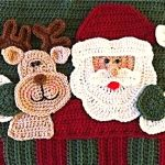 Santa Pillow Close Up Crochet Pattern Finally the day you have been waiting for - the Santa Pillow is finished! Here is the complete finished version of the Santa Pillow cro. Crochet Christmas Ornaments, Christmas Crochet Patterns, Holiday Crochet, Christmas Pillow, Crochet Home, Crochet Gifts, Free Crochet, Knit Crochet, Christmas Stuff