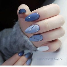 Cute mani. Love the different shades of color