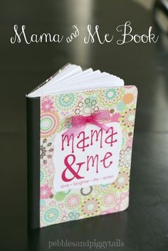"""Stay connected with your kid using an easy DIY """"Mama and Me"""" journal. Write back and forth with your child in this sweet journal!"""