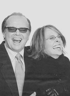 Jack Nicholson & Diane Keaton laughing
